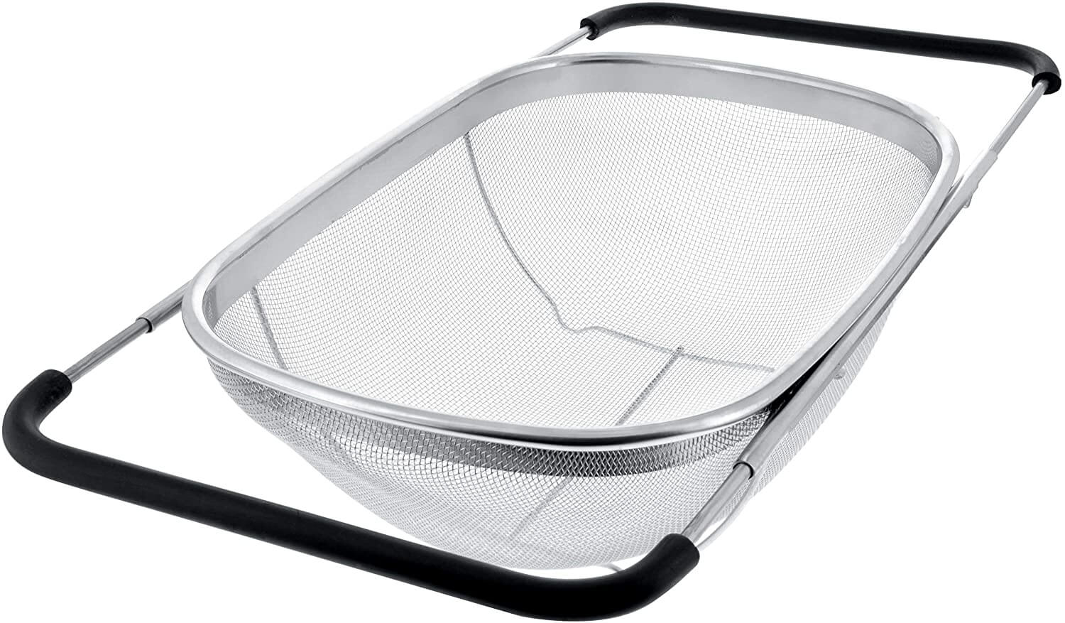 U.S. Kitchen Supply - Premium Quality Over the Sink Stainless Steel Oval Colander