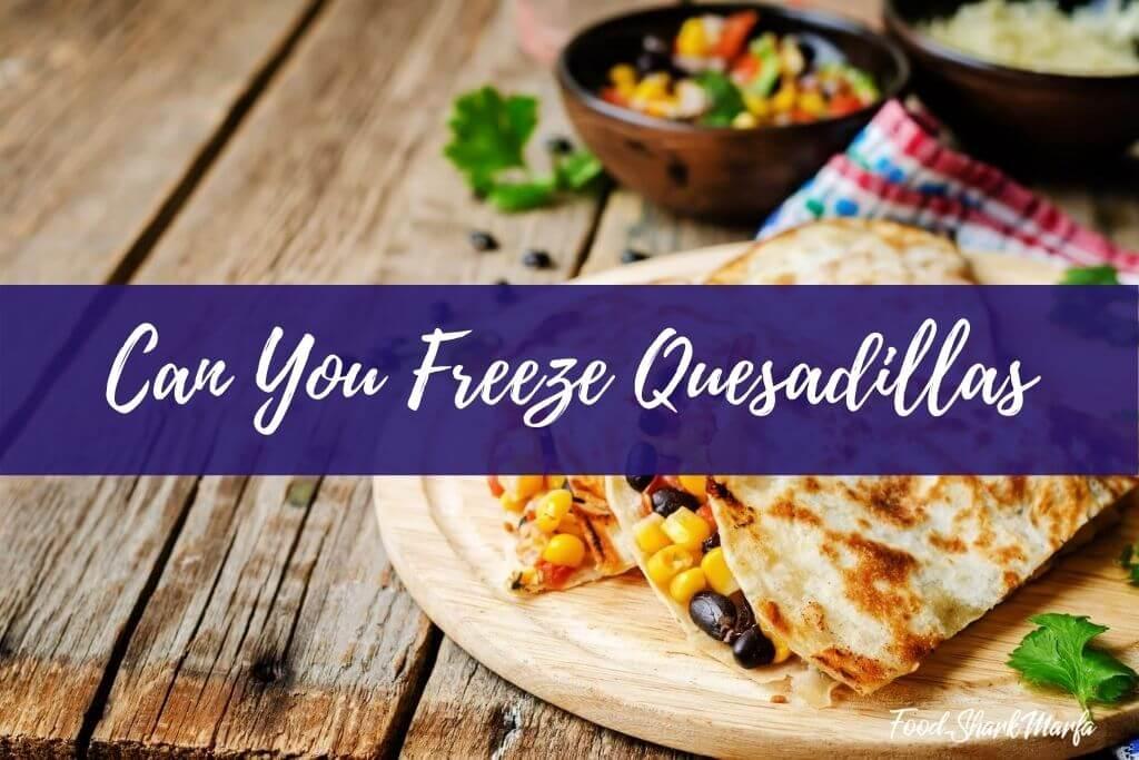Can You Freeze Quesadillas