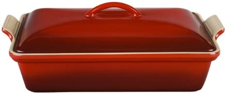 Le Creuset PG07053A-3367 Heritage Stoneware Covered Rectangular Casserole