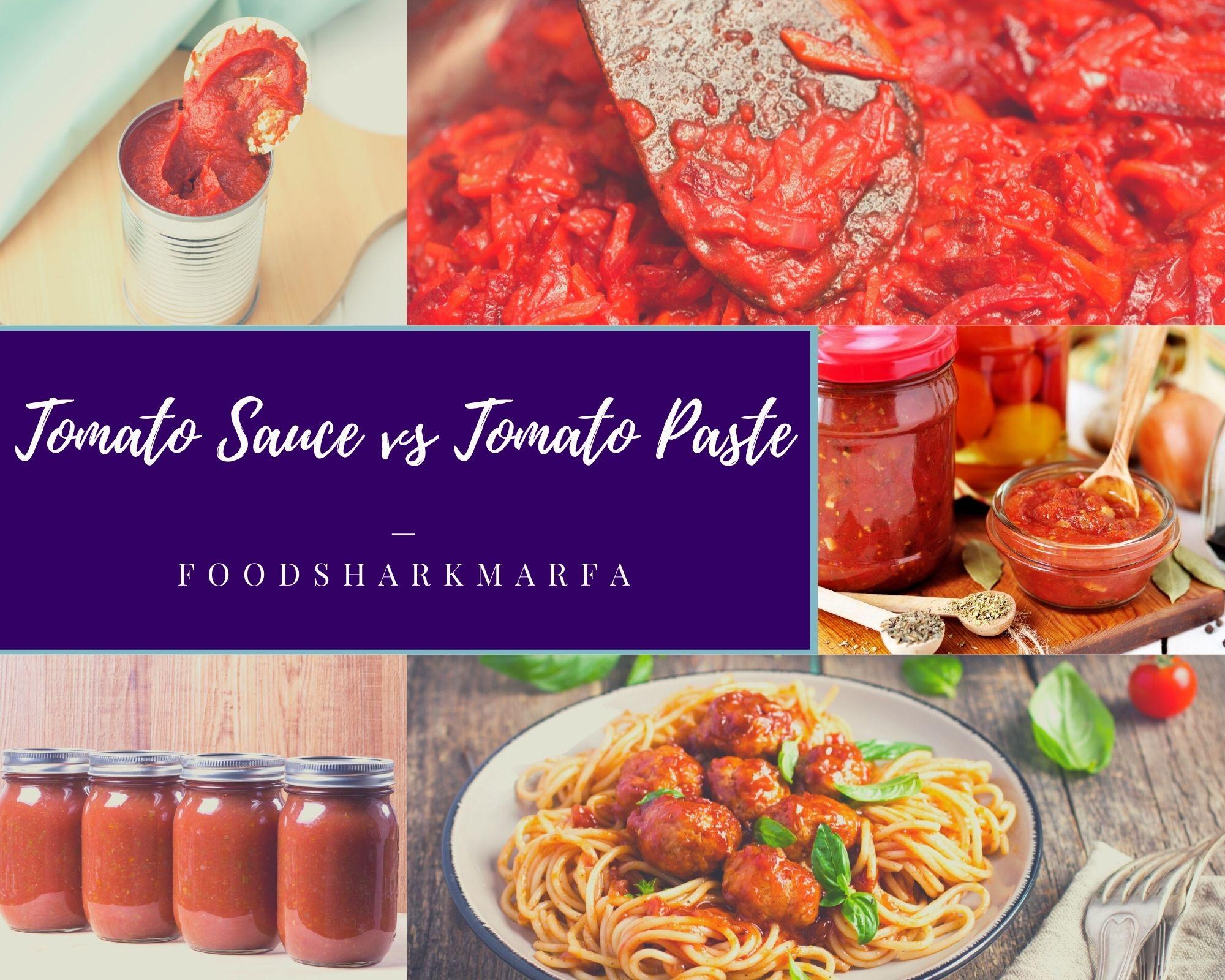 Tomato Sauce vs Tomato Paste