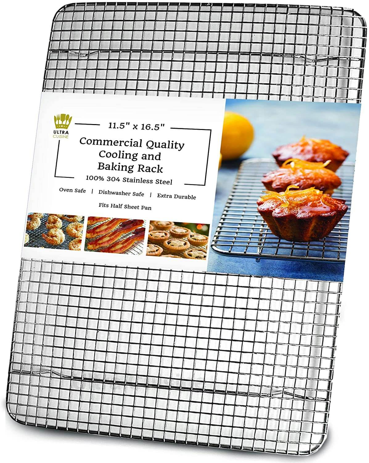 Ultra Cuisine Stainless Steel Wire Cooling Rack