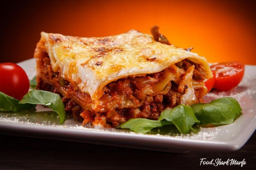 lasagne with basil
