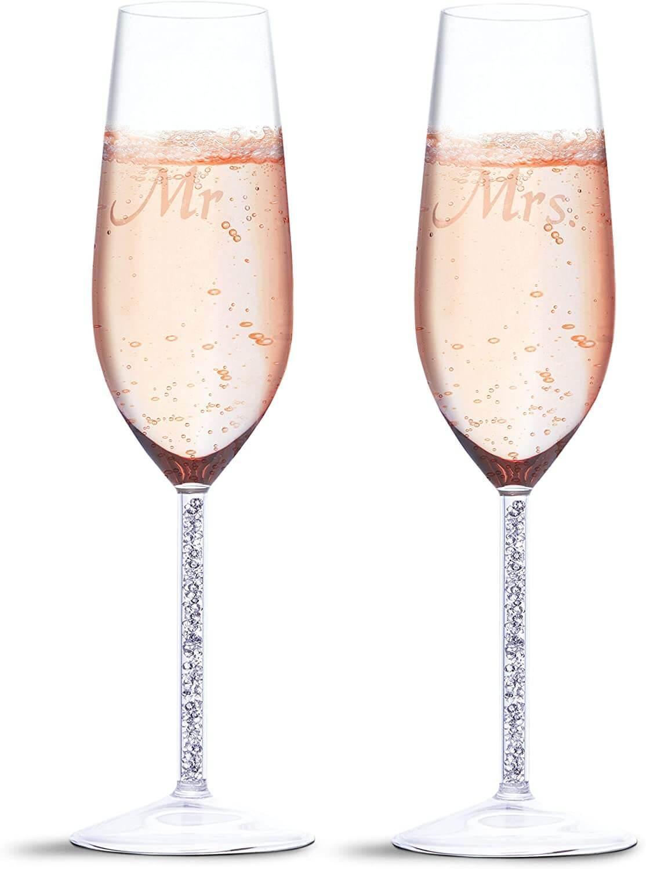 Juvale Wedding Champagne Toasting Flutes