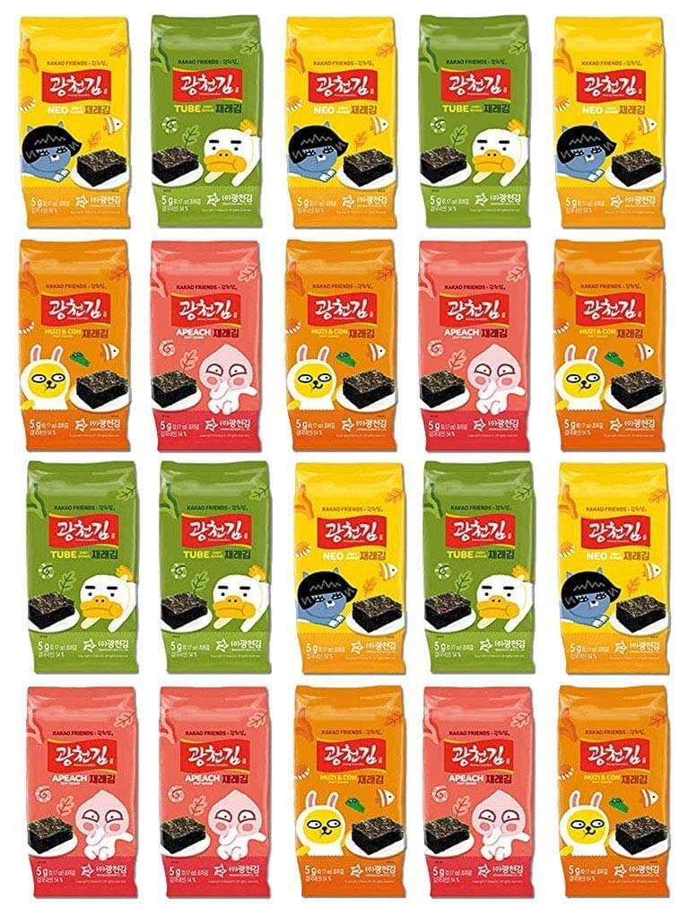Kwangcheonkim Kim Nori Kakao Friends Roasted Seasoned Seaweed Snacks