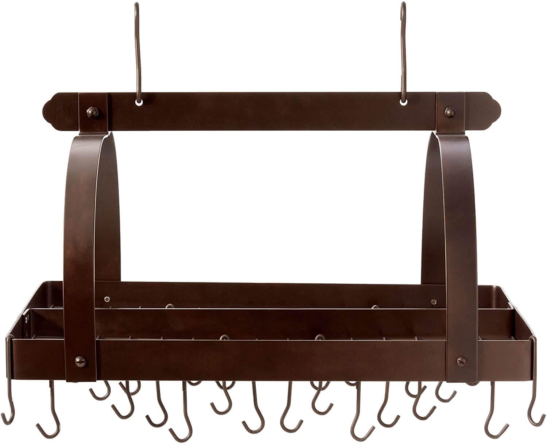 Old Dutch Rectangular Hanging Pot Rack with Grid