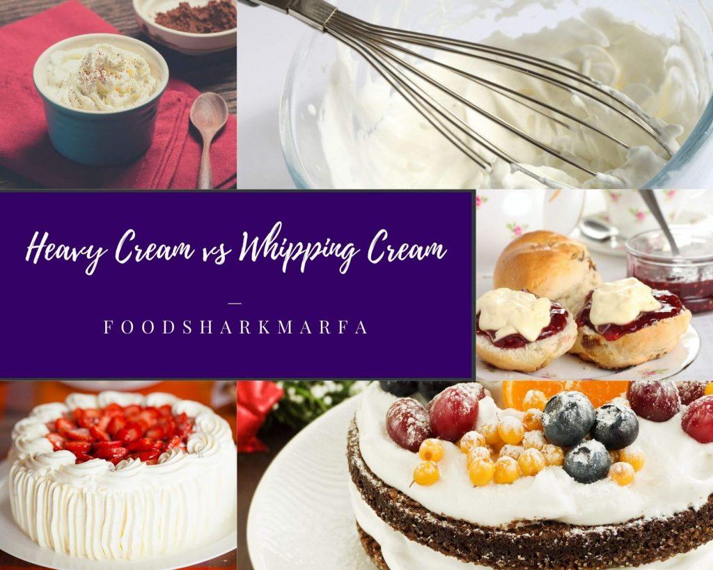 Heavy Cream vs Whipping Cream