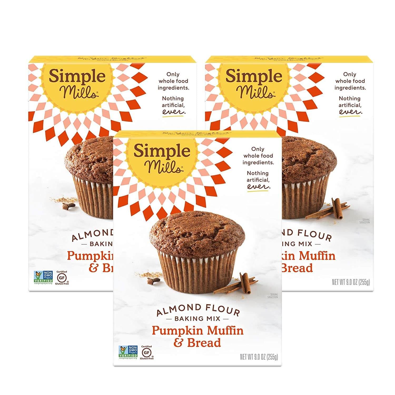 Simple Mills Almond Flour Baking Mix, Gluten Free Pumpkin Bread Mix