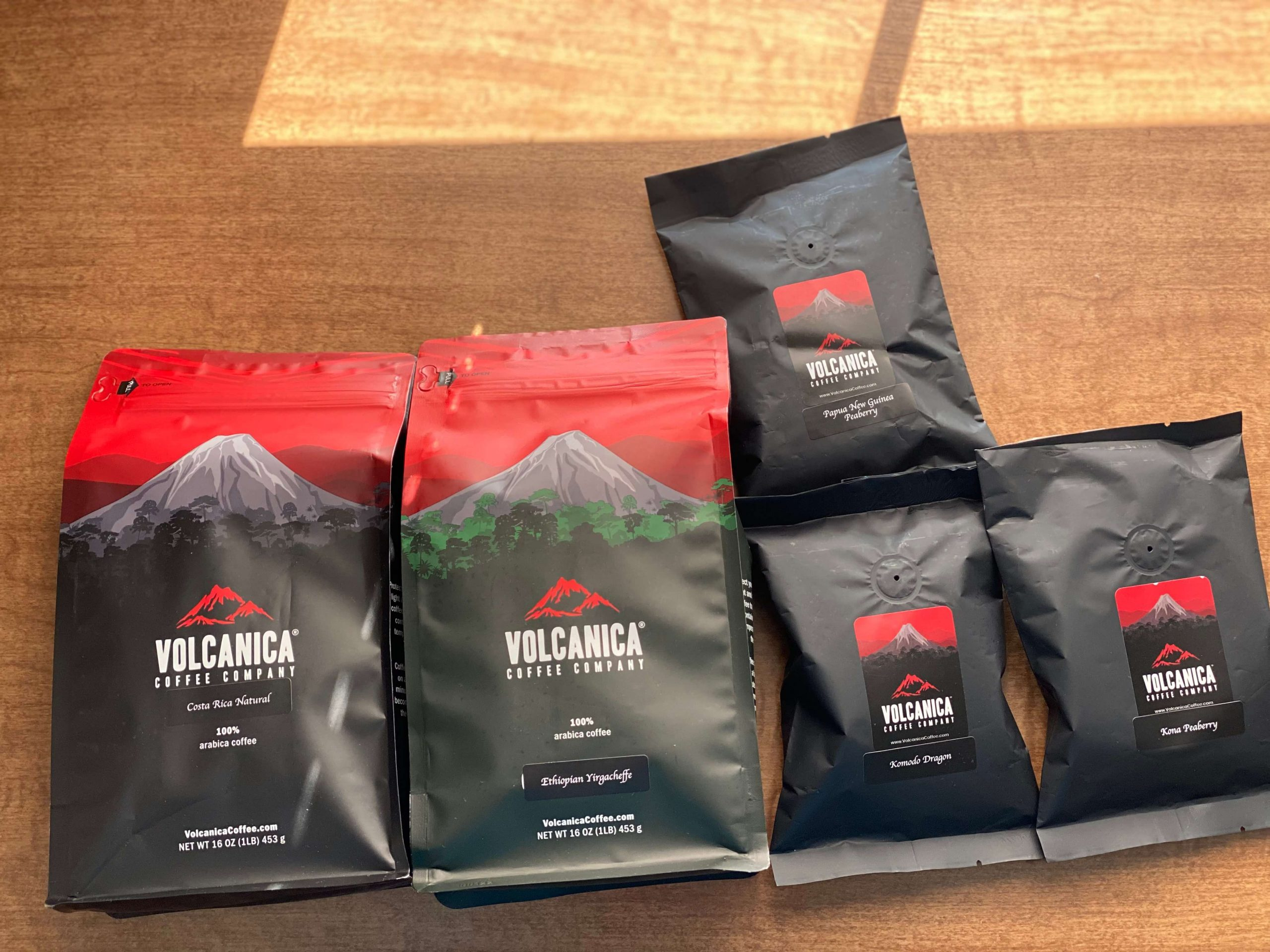 Volcanica Coffees Packed